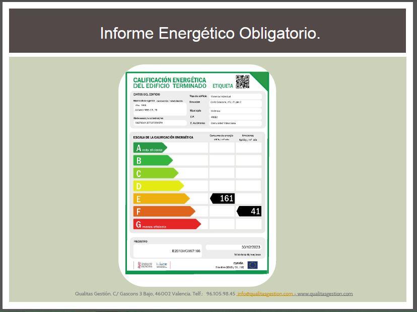 Certificado energ tico para vender una vivienda en - Vender una vivienda ...
